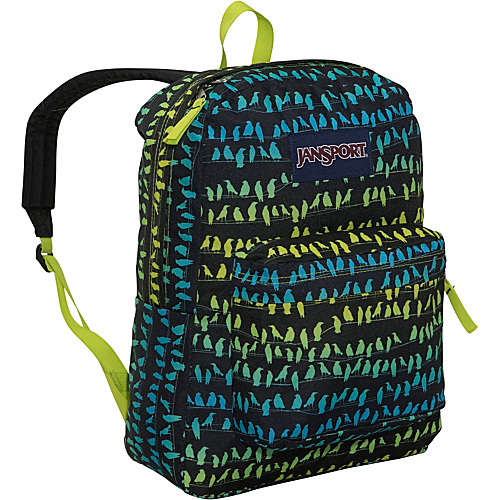 JanSport SuperBreak Backpack Alien Green Crows Club - Backpacks, School & Day Hiking Backpacks