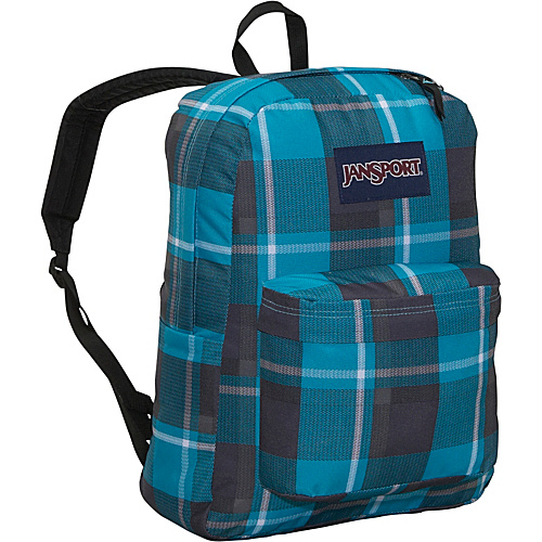 JanSport SuperBreak - Blinded Blue/Grey Duke Plaid - Backpacks, School & Day Hiking Backpacks