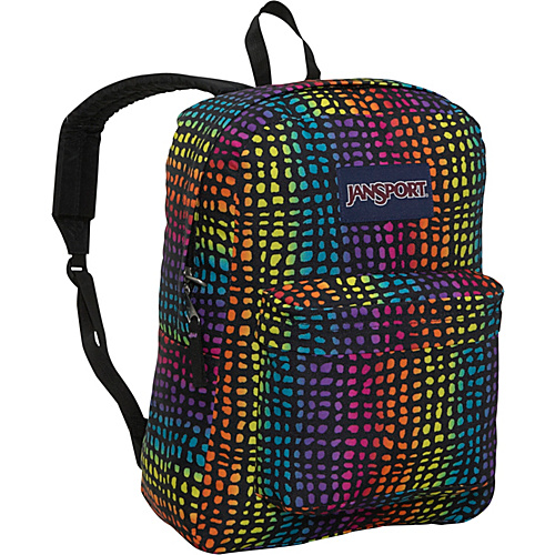 JanSport SuperBreak Backpack Black/Multi Reptile - Backpacks, School & Day Hiking Backpacks