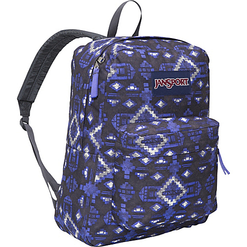 JanSport SuperBreak - Forge Grey/Purple Sky Aztec - Backpacks, School & Day Hiking Backpacks