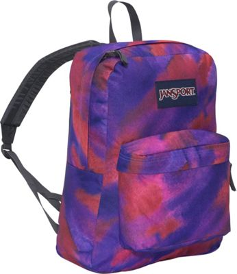 JanSport SuperBreak Purple Sky Multi Watercolor