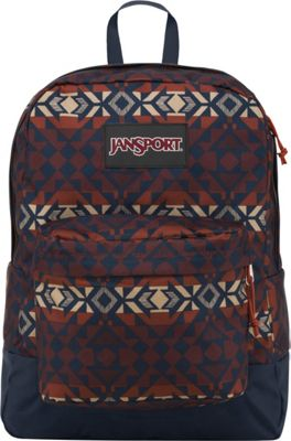 JanSport SuperBreak Backpack Burnt Henna Abstract Angles - Black Label - JanSport School & Day Hiking Backpacks