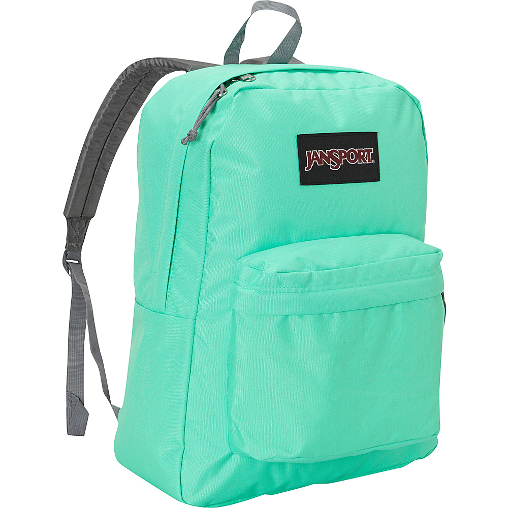 JanSport SuperBreak Backpack Seafoam Green Black Label - JanSport School & Day Hiking Backpacks - Backpacks, School & Day Hiking Backpacks