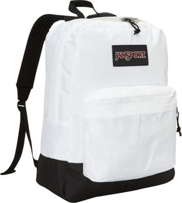 JanSport SuperBreak Backpack White - Black Label - JanSport Everyday Backpacks
