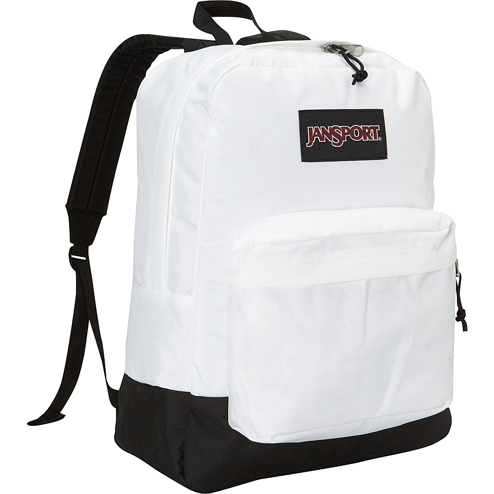 JanSport SuperBreak Backpack White - Black Label - JanSport School & Day Hiking Backpacks - Backpacks, School & Day Hiking Backpacks