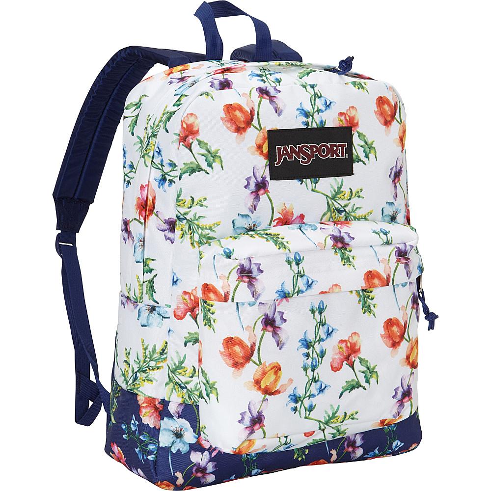 JanSport SuperBreak Backpack Multi White Mountain Meadow - Black Label - JanSport School & Day Hiking Backpacks - Backpacks, School & Day Hiking Backpacks