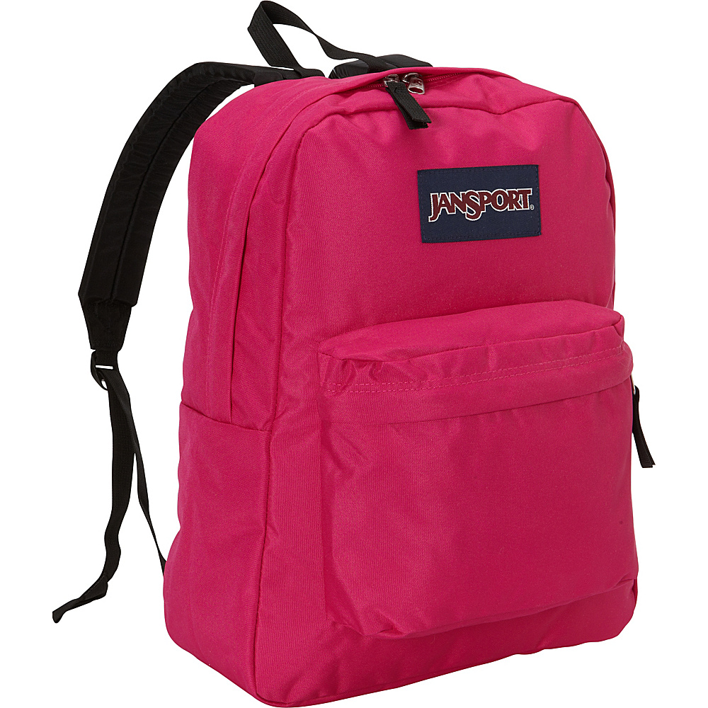 JanSport SuperBreak Backpack Cyber Pink - JanSport School & Day Hiking Backpacks - Backpacks, School & Day Hiking Backpacks