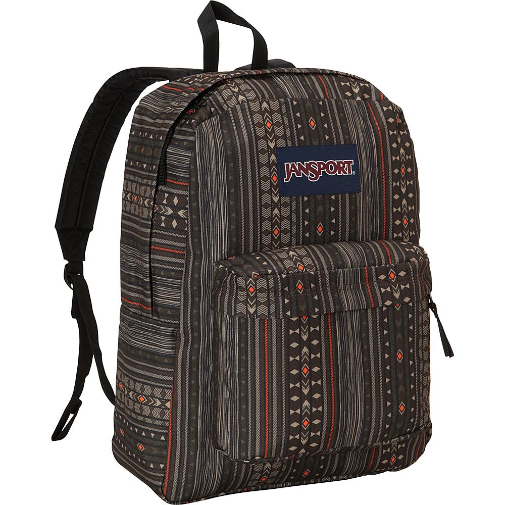 JanSport SuperBreak Backpack Downtown Brown Camo Stripe - JanSport School & Day Hiking Backpacks - Backpacks, School & Day Hiking Backpacks