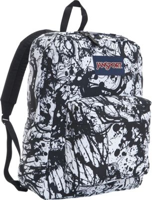JanSport SuperBreak Backpack Black Paintball - JanSport Everyday Backpacks