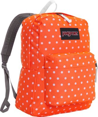 JanSport SuperBreak Backpack Tahitian Orange / White Dots - JanSport Everyday Backpacks
