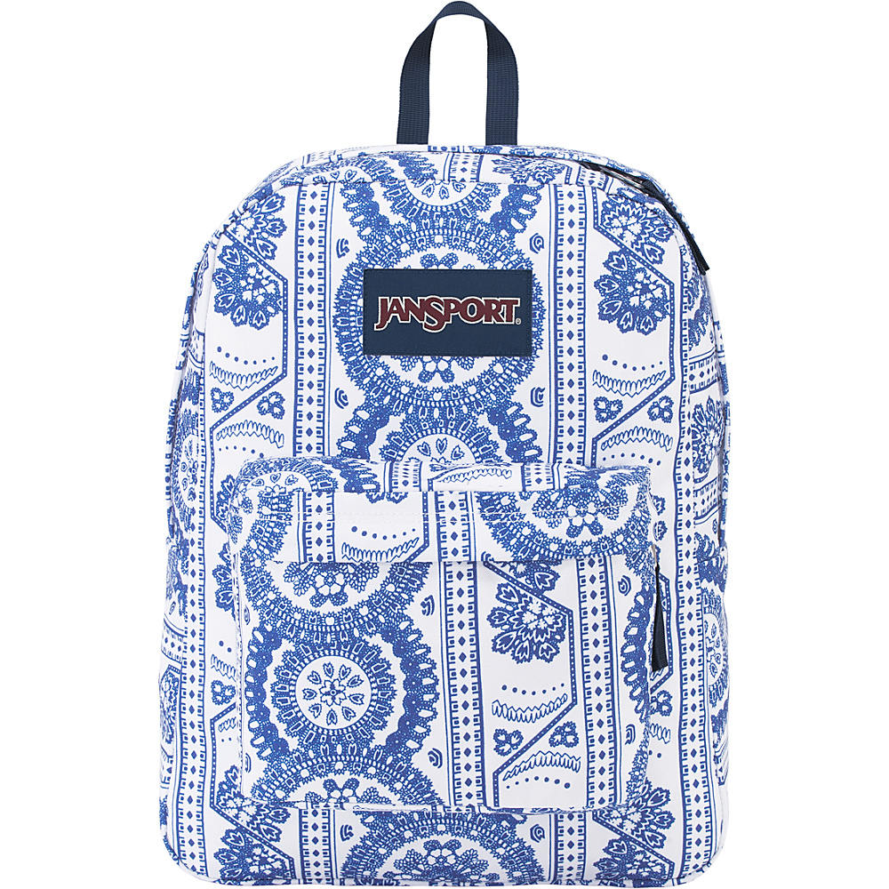 JanSport SuperBreak Backpack White Swedish Lace - JanSport Everyday Backpacks