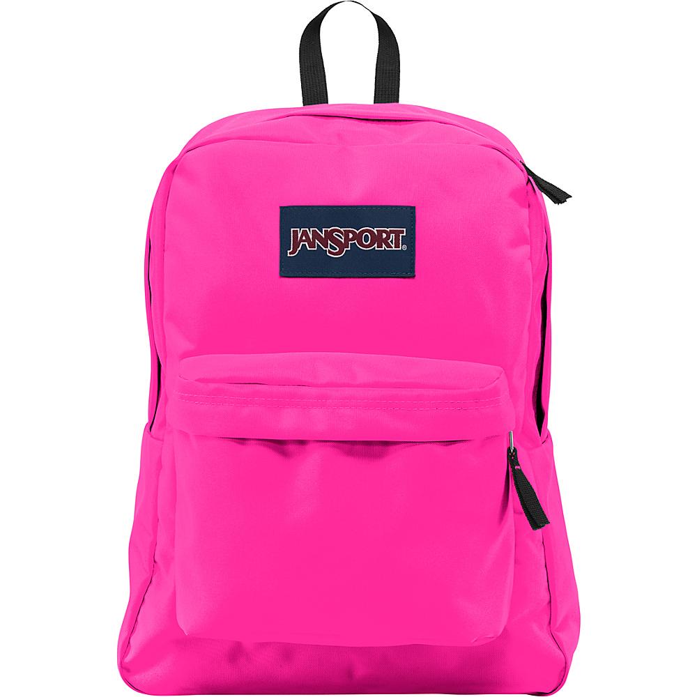 JanSport SuperBreak Backpack Ultra Pink - JanSport Everyday Backpacks