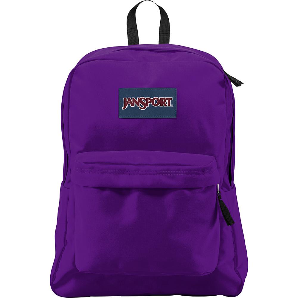 JanSport SuperBreak Backpack Signature Purple - JanSport Everyday Backpacks