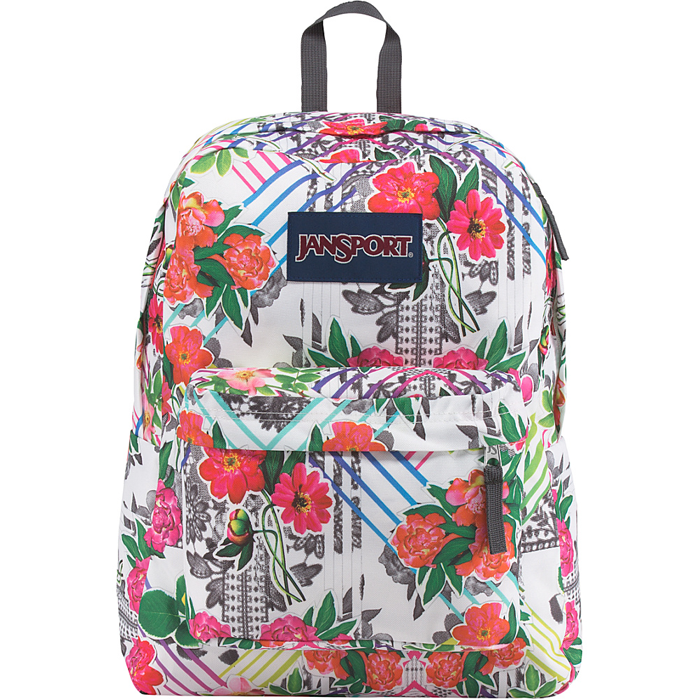JanSport SuperBreak Backpack Collage Floral - JanSport Everyday Backpacks