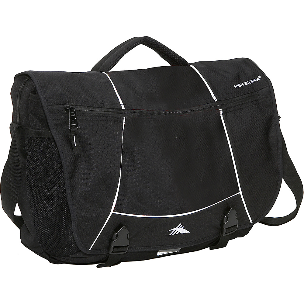 High Sierra Tank Messenger Bag - Black - Work Bags & Briefcases, Messenger Bags