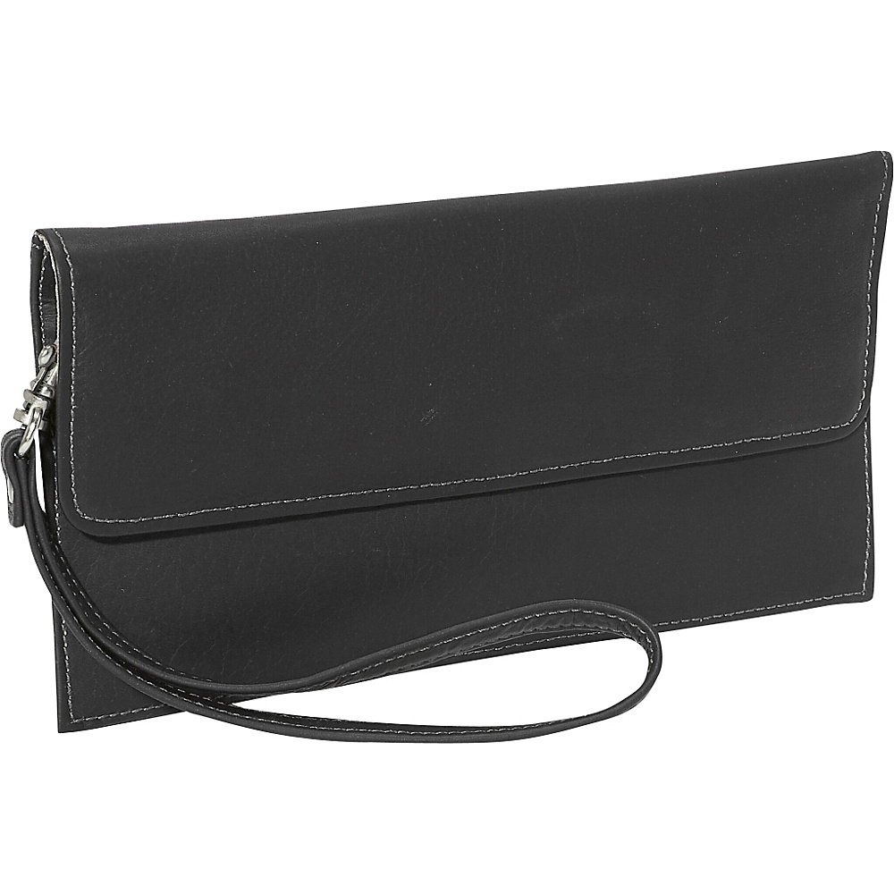 Piel Travel Wallet Black