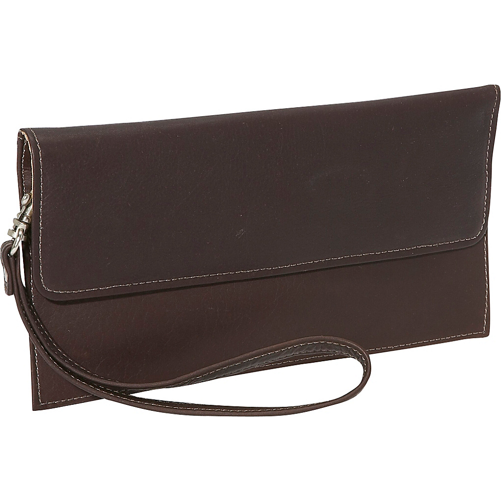 Piel Travel Wallet Chocolate
