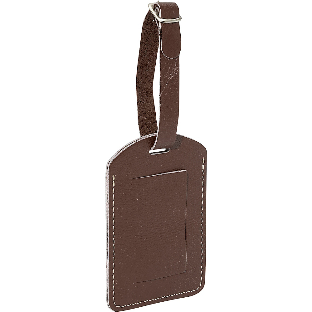 Piel I.D. Tag - Chocolate - Travel Accessories, Luggage Accessories