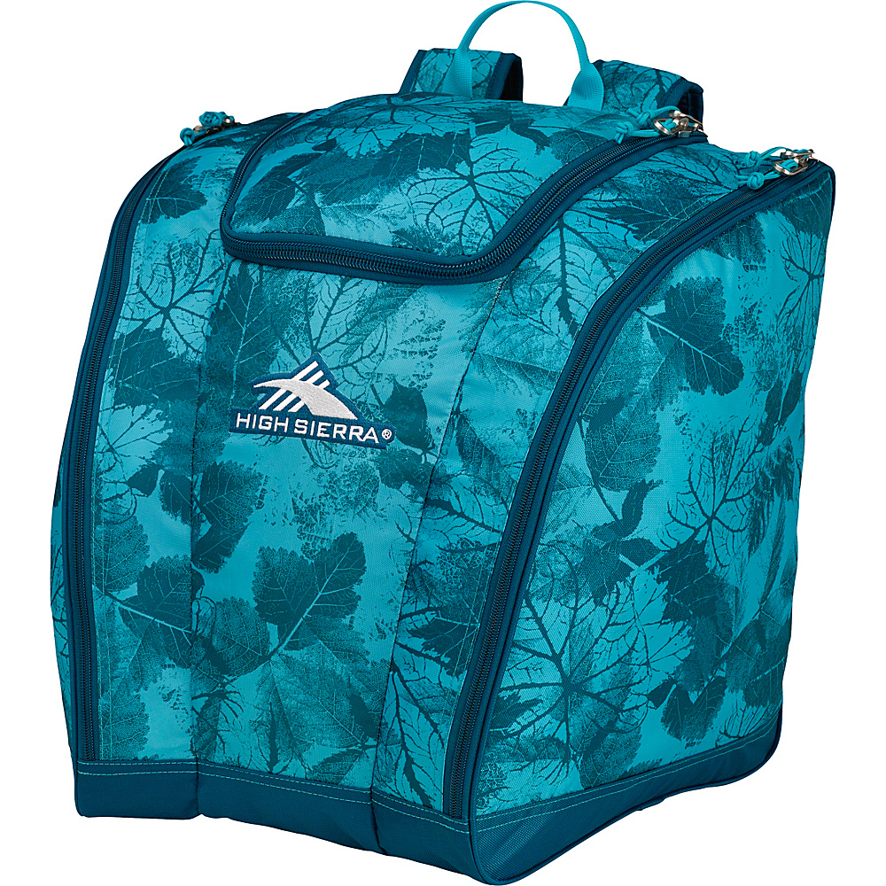 High Sierra Trapezoid Boot Bag Flora/Lagoon/Tropic Teal - High Sierra Ski and Snowboard Bags