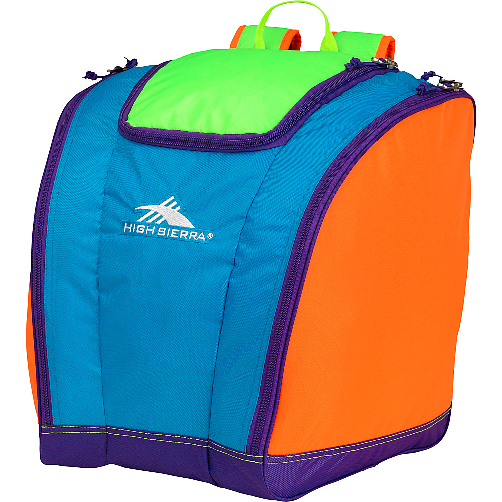 High Sierra Trapezoid Boot Bag Neon Colorblock - High Sierra Ski and Snowboard Bags