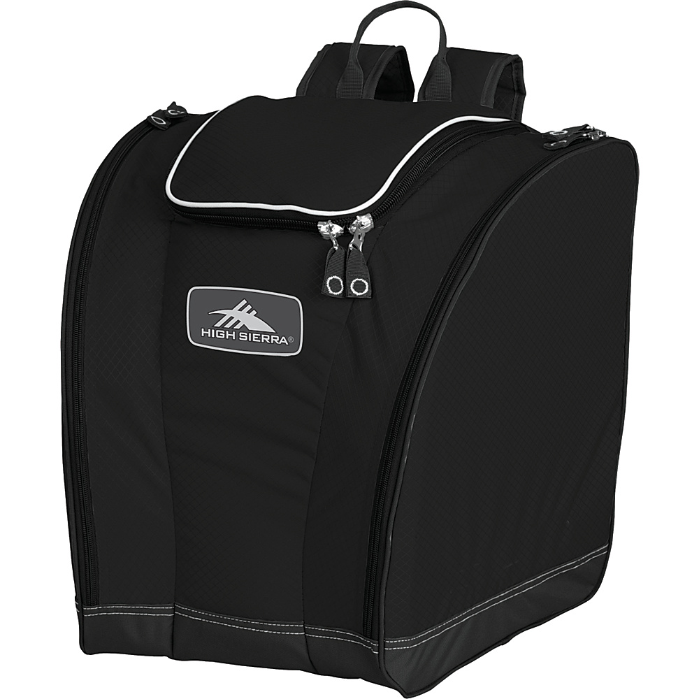 High Sierra Trapezoid Boot Bag - Black - Sports, Ski and Snowboard Bags