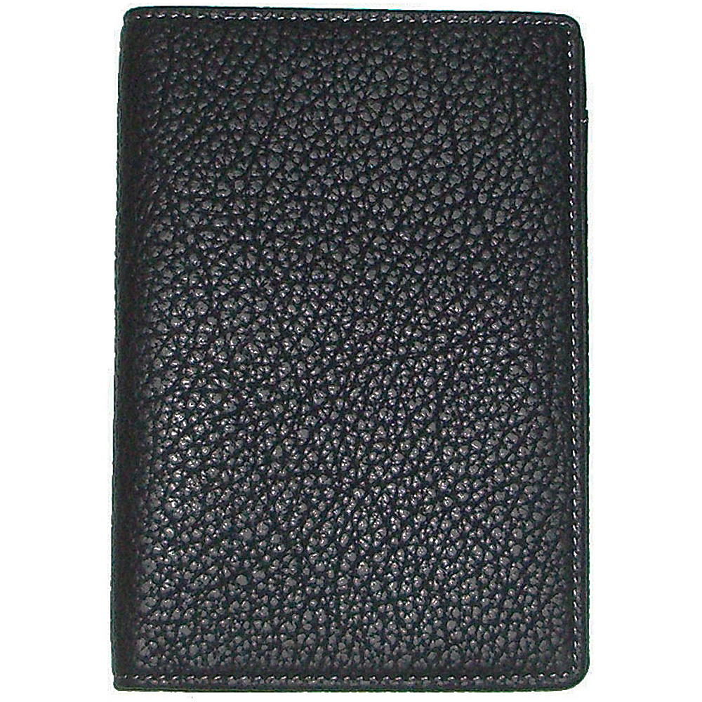 Boconi Tyler Tumbled Passport Case Black w plaid