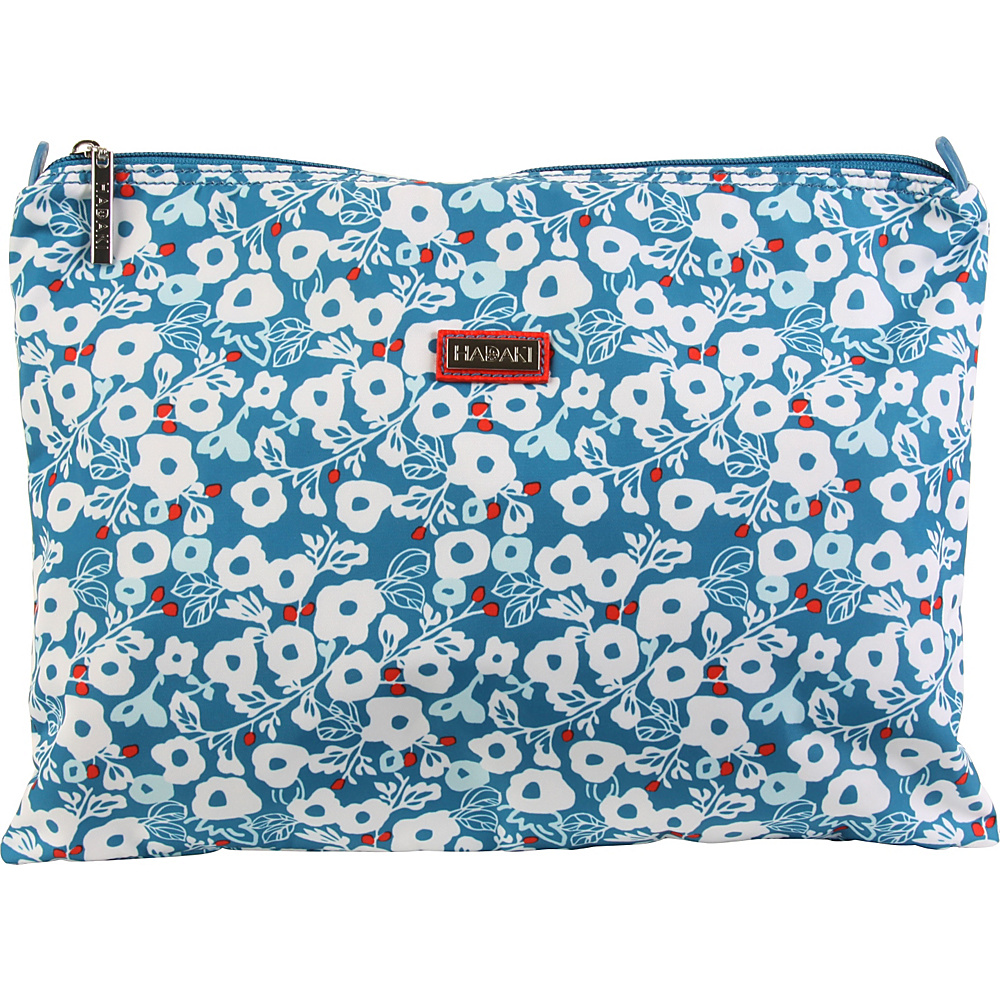 Hadaki Large Zippered Carry All Berry Blossom Teal - Hadaki Toiletry Kits - Travel Accessories, Toiletry Kits