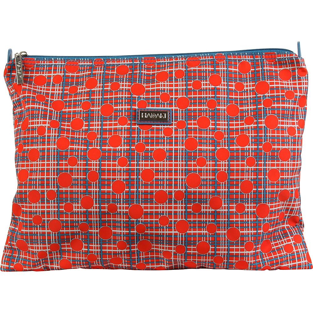 Hadaki Large Zippered Carry All Fiery Red Plaid - Hadaki Toiletry Kits - Travel Accessories, Toiletry Kits