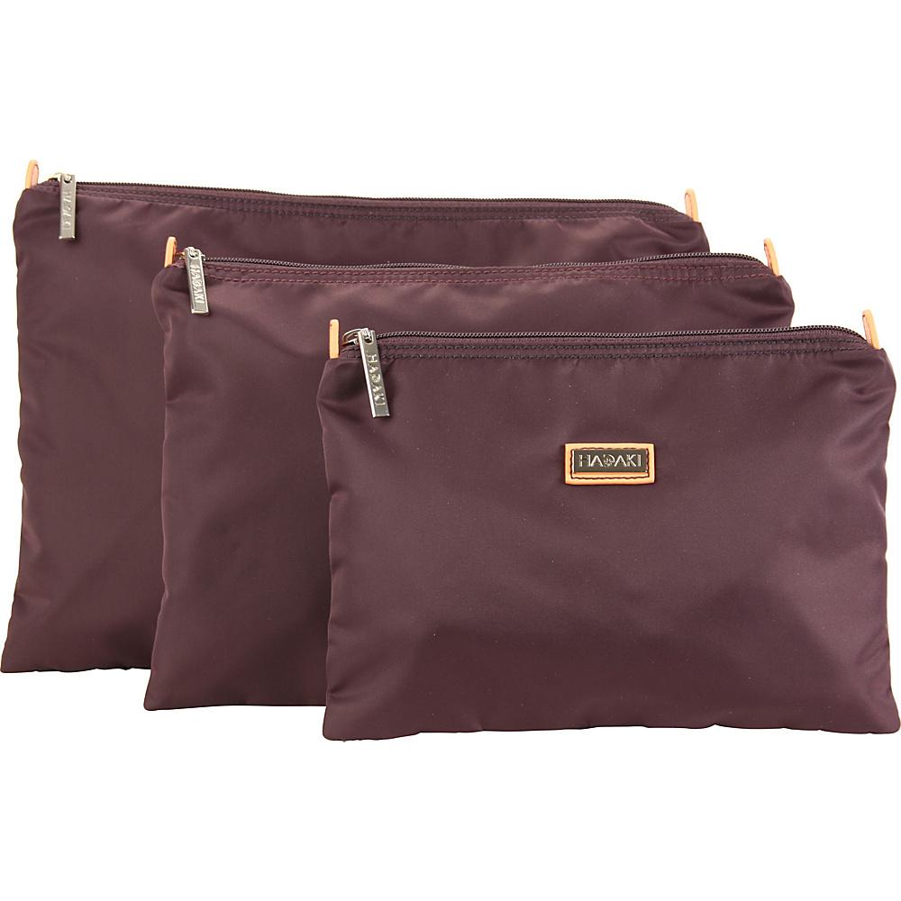 Hadaki Large Zippered Carry All Plum Perfect Solid - Hadaki Toiletry Kits - Travel Accessories, Toiletry Kits