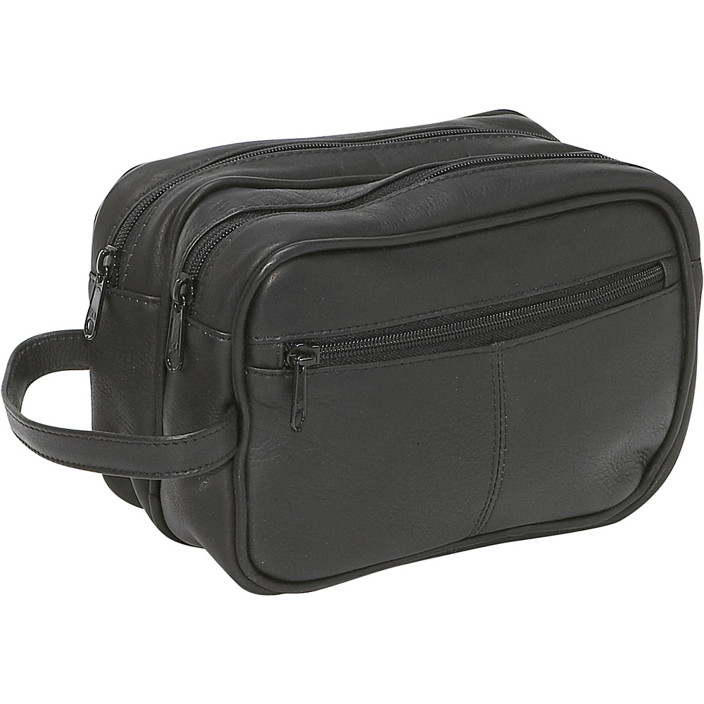 Le Donne Leather Unisex Toiletry Bag - Black - Travel Accessories, Toiletry Kits