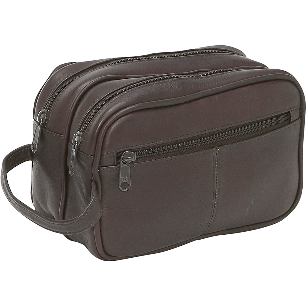 Le Donne Leather Unisex Toiletry Bag - Caf - Travel Accessories, Toiletry Kits