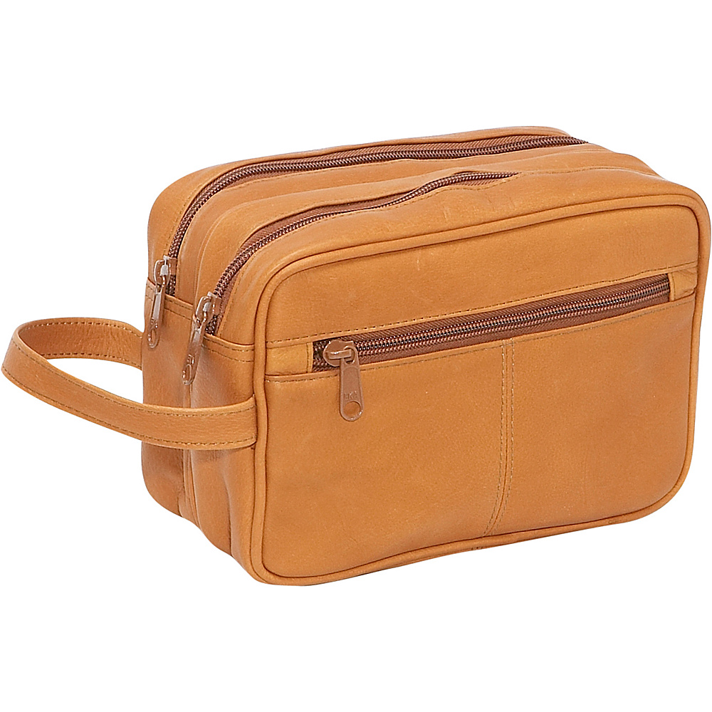 Le Donne Leather Unisex Toiletry Bag - Tan - Travel Accessories, Toiletry Kits