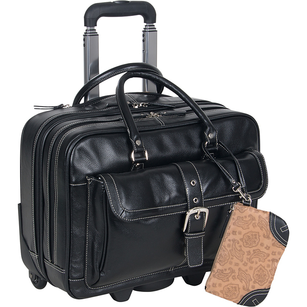 eBags Laptop Collection SOHO Leather Mobile Office - Work Bags & Briefcases, Wheeled Business Cases