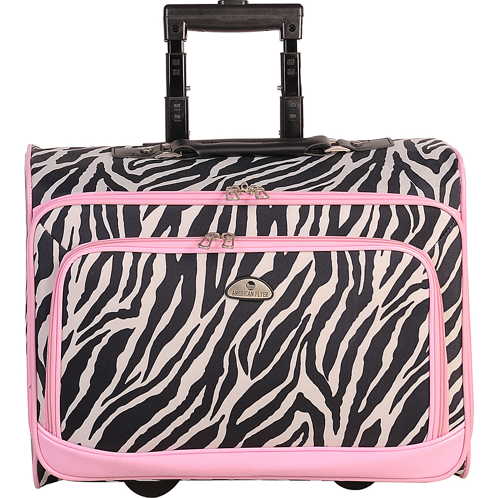 American Flyer Animal Print Underseater Zebra Pink American Flyer Softside Carry On