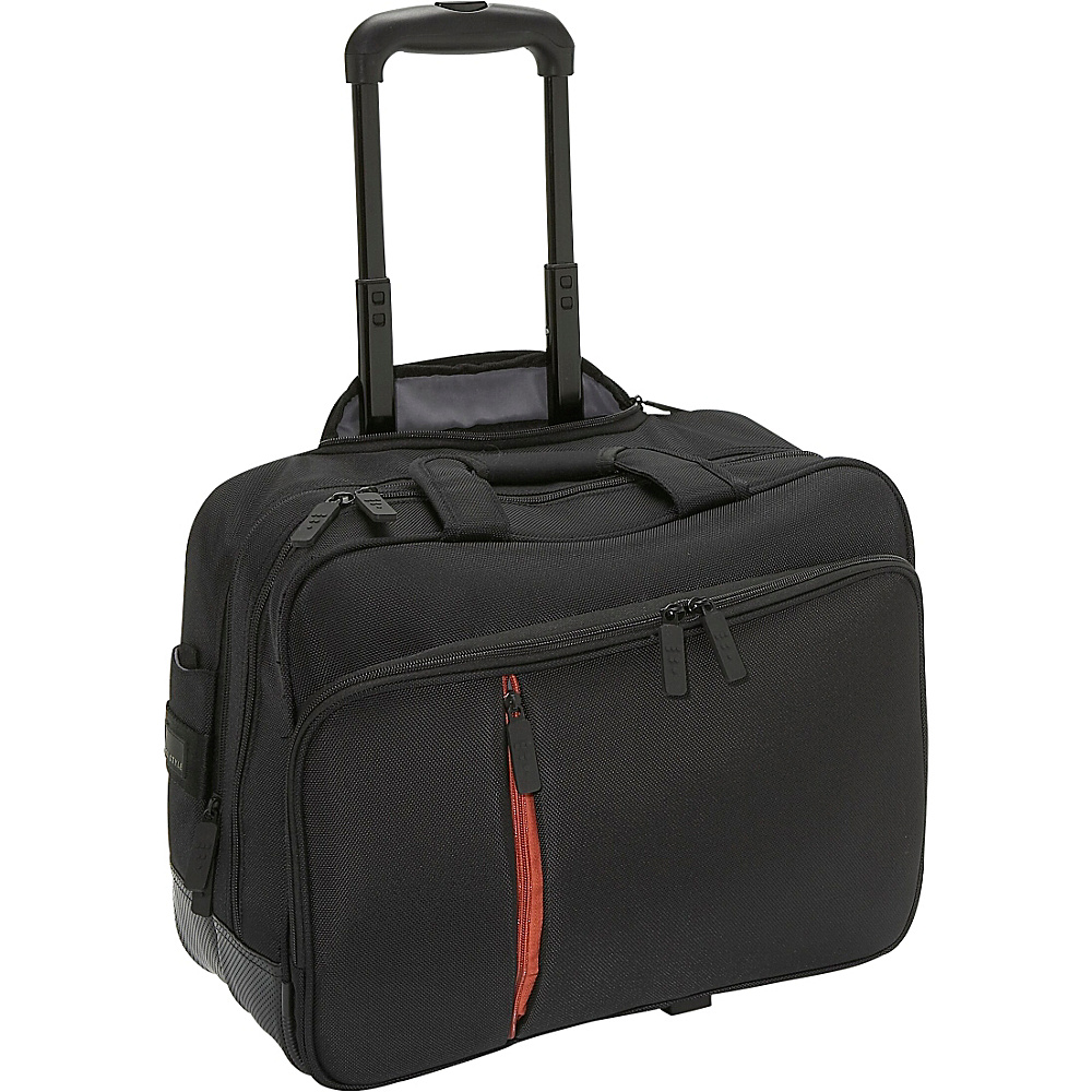 ECO STYLE Luxe Rolling Case - Black/Orange - Work Bags & Briefcases, Wheeled Business Cases