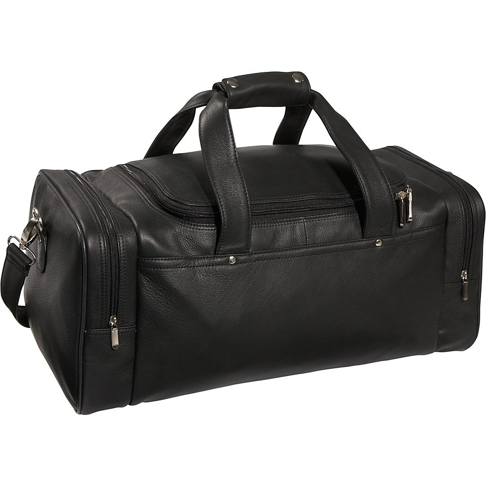 Royce Leather Sports Bag / Leather Duffel - Black