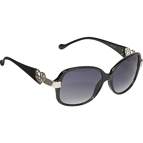 Jessica Simpson Sunwear Heart Sunglasses - Black