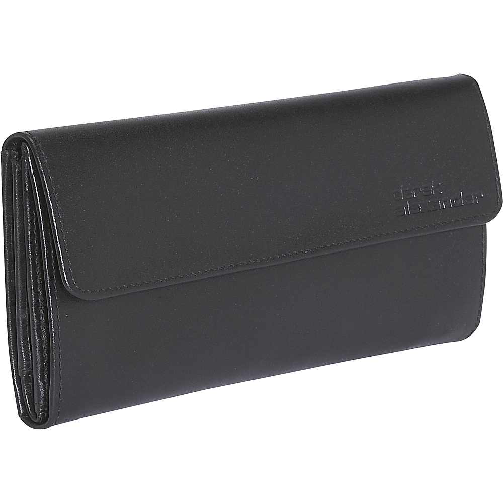 Derek Alexander Ladies 3 Part Checkbook Wallet - Black - Women's SLG, Women's Wallets