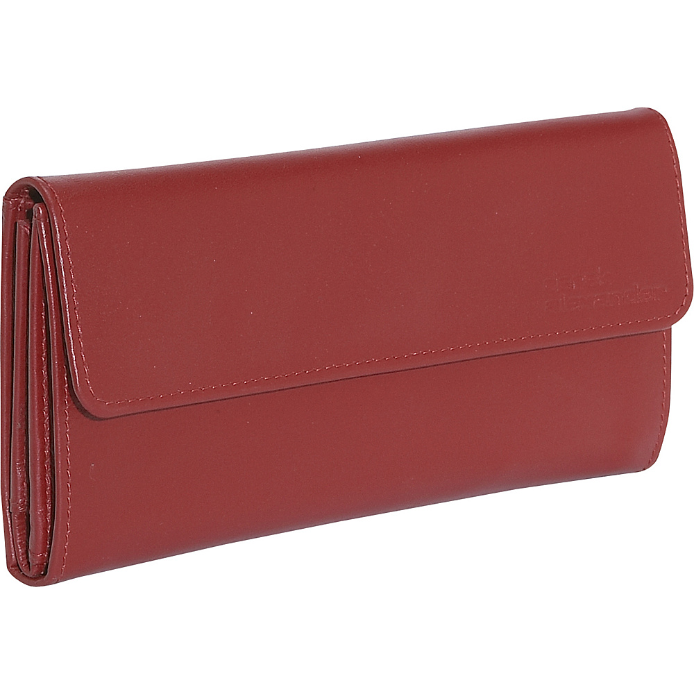 Derek Alexander Ladies 3 Part Checkbook Wallet - Red - Women's SLG, Women's Wallets
