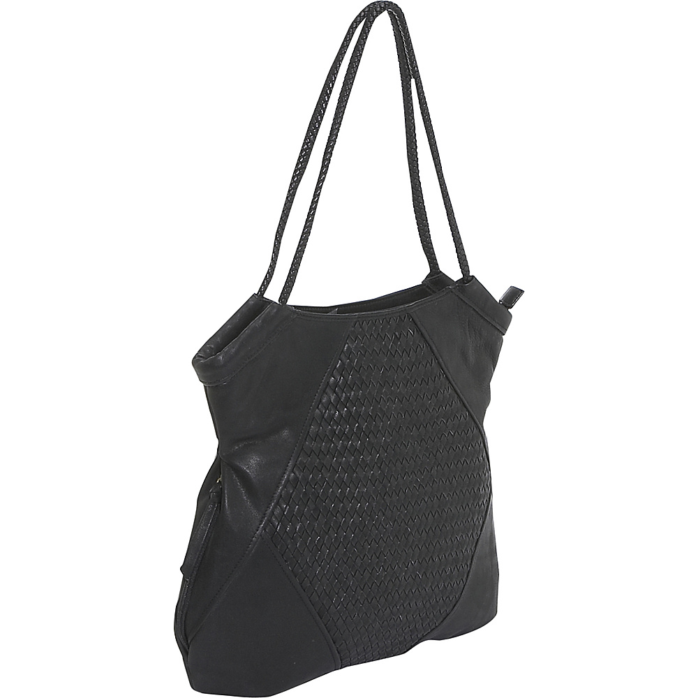 Derek Alexander Inset Top Zip - Black - Handbags, Leather Handbags