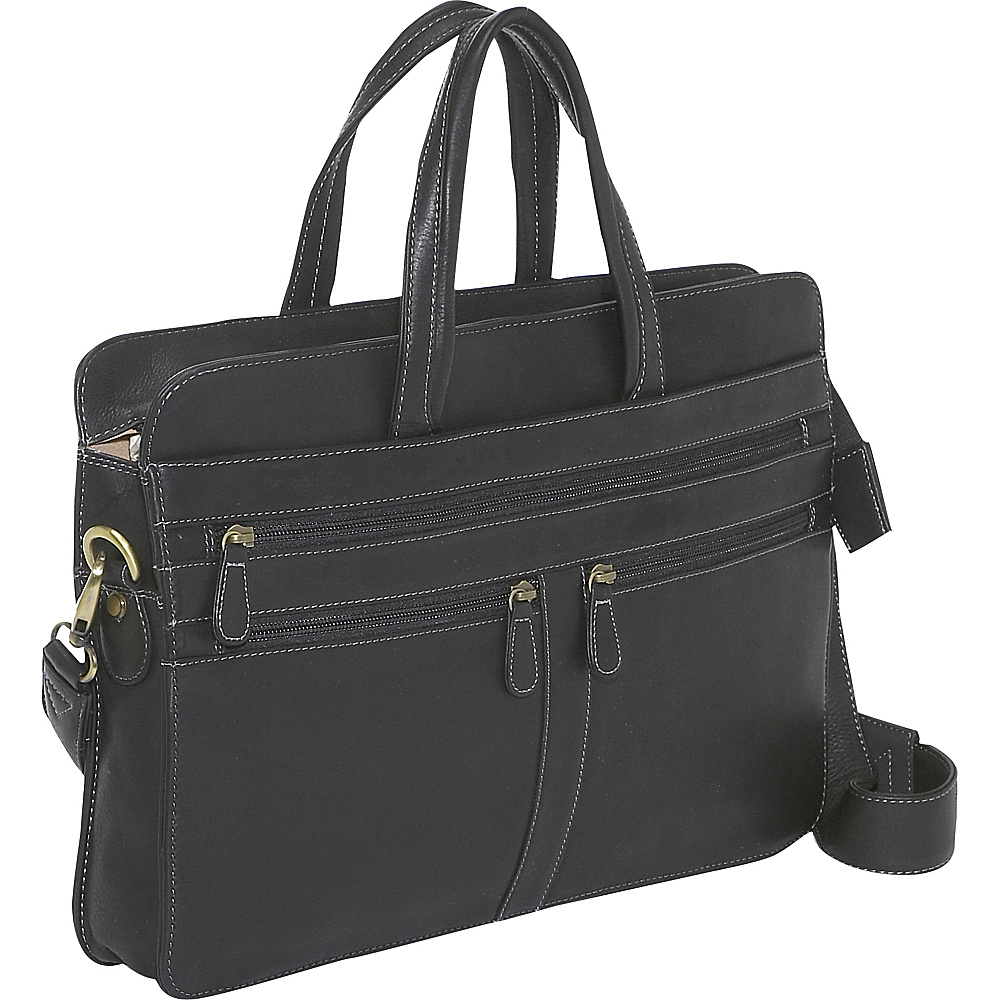 Derek Alexander Top Zip Business Case - Black - Work Bags & Briefcases, Non-Wheeled Business Cases