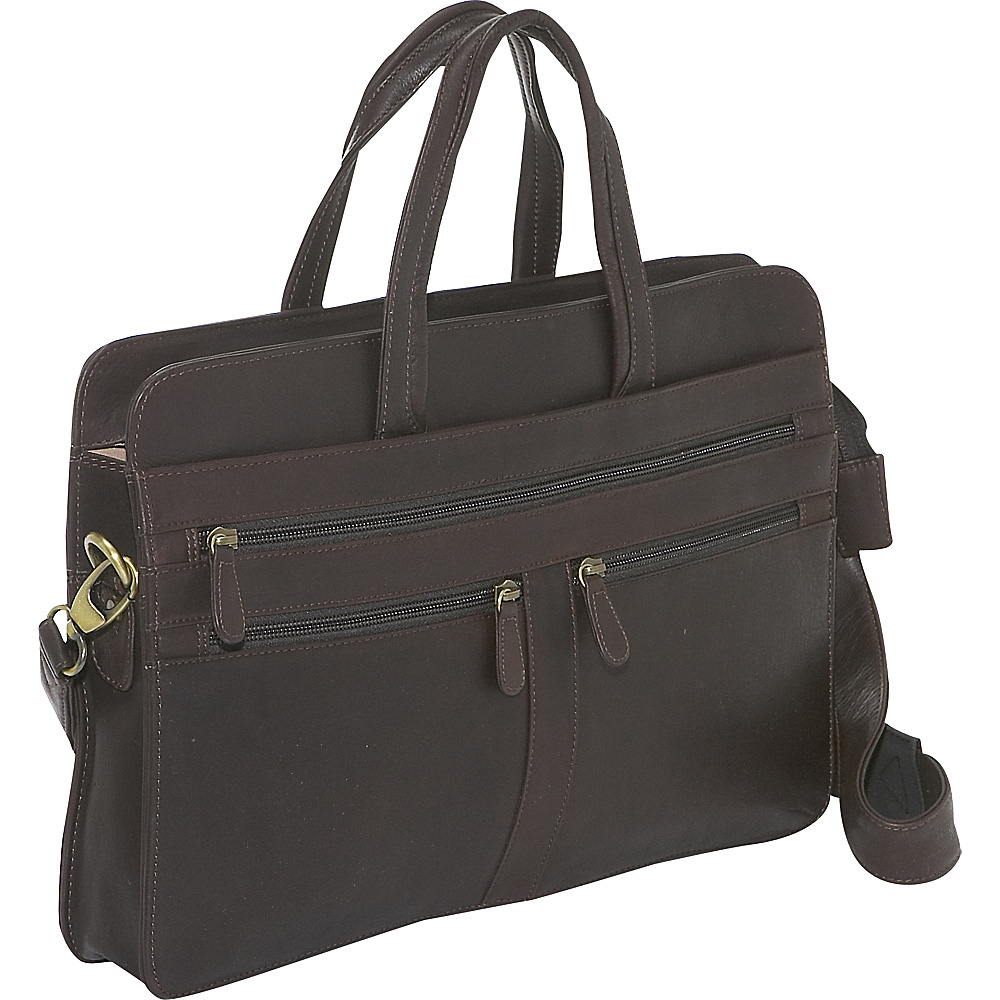 Derek Alexander Top Zip Business Case - Brown - Work Bags & Briefcases, Non-Wheeled Business Cases