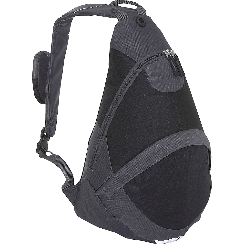 Everest Deluxe Sling Backpack - Charcoal/Black - Backpacks, Slings