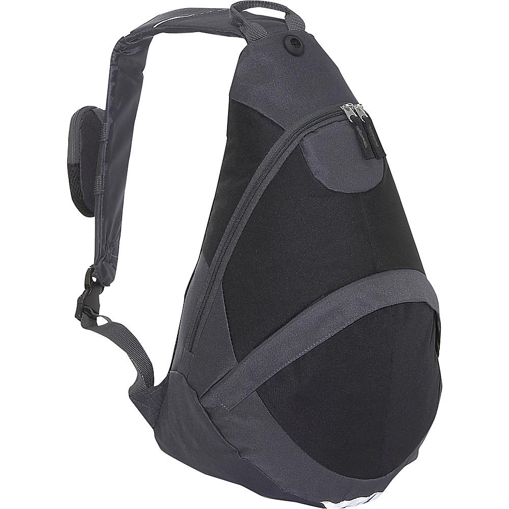 Everest Deluxe Sling Backpack - Charcoal/Black - Backpacks, Slings