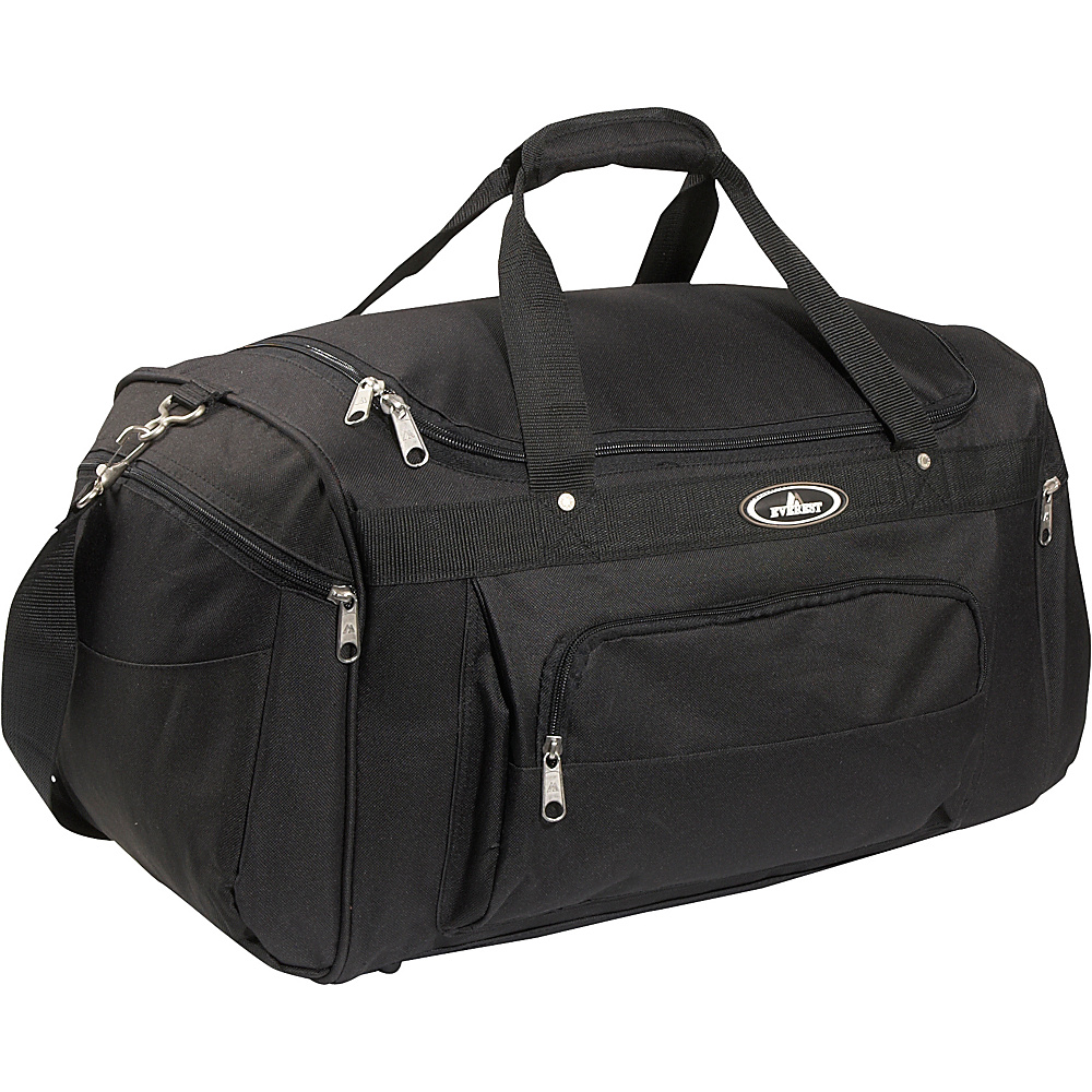 Everest 24 Deluxe Sports Duffel Bag - Black - Duffels, Travel Duffels