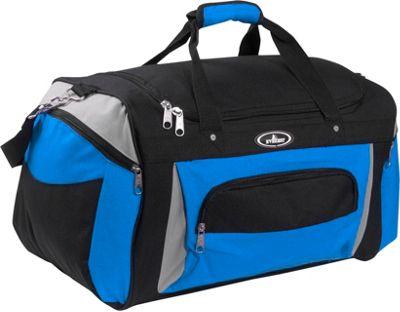 Everest 24 inch Deluxe Sports Duffel Bag Royal Blue/Gray/Black - Everest Travel Duffels