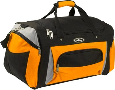 Everest 24 inch Deluxe Sports Duffel Bag Orange/Gray/Black - Everest Travel Duffels