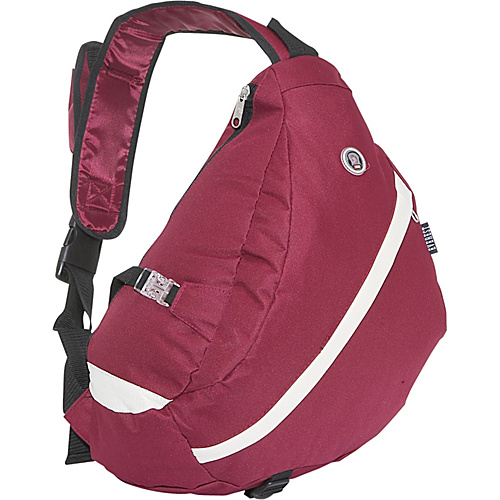 Everest Sporty Sling Backpack - Burgundy / Beige