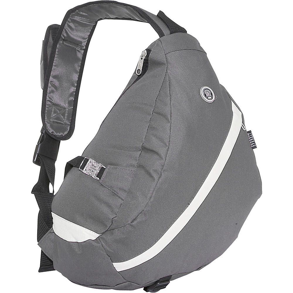 Everest Sporty Sling Backpack - Dark Gray / Beige - Backpacks, Slings