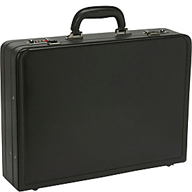 Bonded Leather Attaché Black